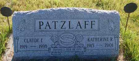 PATZLAFF, CLAUDE E. - Minnehaha County, South Dakota | CLAUDE E. PATZLAFF - South Dakota Gravestone Photos