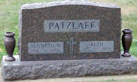 PATZLAFF, KENNETH - Minnehaha County, South Dakota | KENNETH PATZLAFF - South Dakota Gravestone Photos