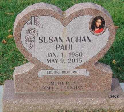 ACHAN PAUL, SUSAN - Minnehaha County, South Dakota | SUSAN ACHAN PAUL - South Dakota Gravestone Photos