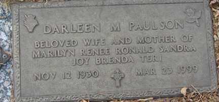 PAULSON, DARLEEN M. - Minnehaha County, South Dakota | DARLEEN M. PAULSON - South Dakota Gravestone Photos