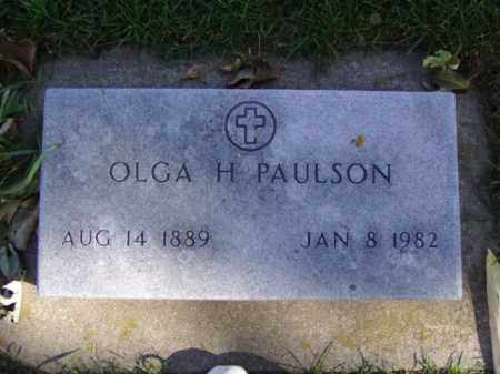 PAULSON, OLGA H. - Minnehaha County, South Dakota | OLGA H. PAULSON - South Dakota Gravestone Photos
