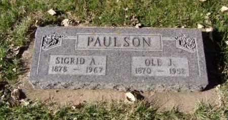 PAULSON, OLE J. - Minnehaha County, South Dakota | OLE J. PAULSON - South Dakota Gravestone Photos