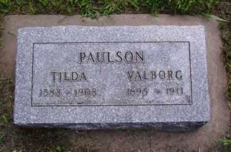 PAULSON, TILDA - Minnehaha County, South Dakota | TILDA PAULSON - South Dakota Gravestone Photos