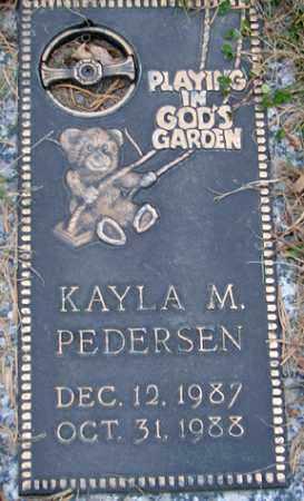 PEDERSEN, KAYLA M. - Minnehaha County, South Dakota   KAYLA M. PEDERSEN - South Dakota Gravestone Photos