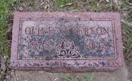 PEDERSON, OLINE - Minnehaha County, South Dakota   OLINE PEDERSON - South Dakota Gravestone Photos