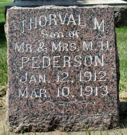 PEDERSON, THORVAL M. - Minnehaha County, South Dakota | THORVAL M. PEDERSON - South Dakota Gravestone Photos