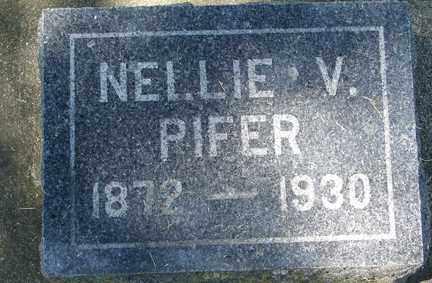PIFER, NELLIE V. - Minnehaha County, South Dakota   NELLIE V. PIFER - South Dakota Gravestone Photos