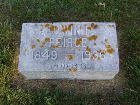 PEIRCE, EDWIN F. - Minnehaha County, South Dakota | EDWIN F. PEIRCE - South Dakota Gravestone Photos