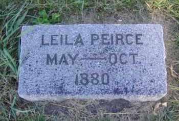 PEIRCE, LEILA - Minnehaha County, South Dakota | LEILA PEIRCE - South Dakota Gravestone Photos
