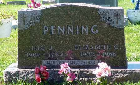PENNING, NIC J. - Minnehaha County, South Dakota | NIC J. PENNING - South Dakota Gravestone Photos