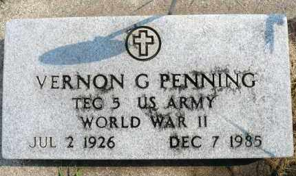 PENNING, VERNON G. (WWII) - Minnehaha County, South Dakota | VERNON G. (WWII) PENNING - South Dakota Gravestone Photos