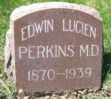 PERKINS, EDWIN LUCIEN - Minnehaha County, South Dakota | EDWIN LUCIEN PERKINS - South Dakota Gravestone Photos