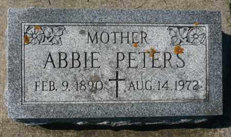PETERS, ABBIE - Minnehaha County, South Dakota   ABBIE PETERS - South Dakota Gravestone Photos