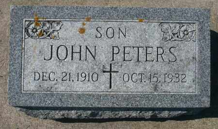 PETERS, JOHN - Minnehaha County, South Dakota | JOHN PETERS - South Dakota Gravestone Photos