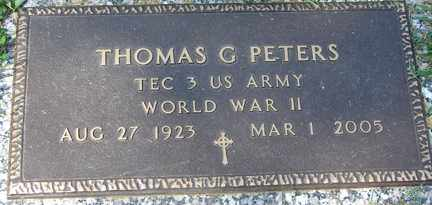 PETERS, THOMAS G. (WWII) - Minnehaha County, South Dakota | THOMAS G. (WWII) PETERS - South Dakota Gravestone Photos