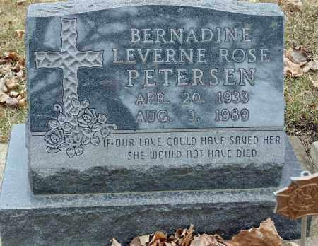 PETERSEN, BERNADINE LEVERNE ROSE - Minnehaha County, South Dakota | BERNADINE LEVERNE ROSE PETERSEN - South Dakota Gravestone Photos