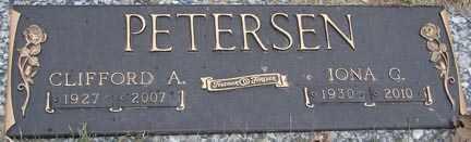 PETERSEN, CLIFFORD AMOS - Minnehaha County, South Dakota | CLIFFORD AMOS PETERSEN - South Dakota Gravestone Photos
