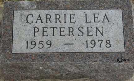 PETERSEN, CARRIE LEA - Minnehaha County, South Dakota | CARRIE LEA PETERSEN - South Dakota Gravestone Photos