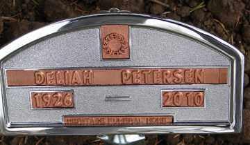 PETERSEN, DELIAH - Minnehaha County, South Dakota | DELIAH PETERSEN - South Dakota Gravestone Photos