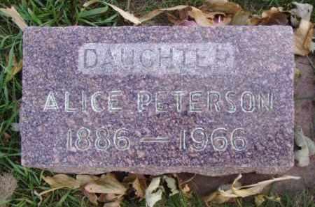 PETERSON, ALICE - Minnehaha County, South Dakota | ALICE PETERSON - South Dakota Gravestone Photos
