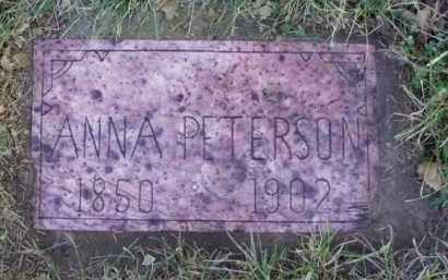 PETERSON, ANNA - Minnehaha County, South Dakota | ANNA PETERSON - South Dakota Gravestone Photos