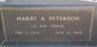 PETERSON, HARRY A. (MILITARY) - Minnehaha County, South Dakota | HARRY A. (MILITARY) PETERSON - South Dakota Gravestone Photos