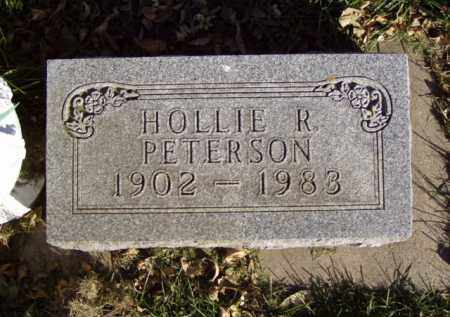 PETERSON, HOLLIE R. - Minnehaha County, South Dakota | HOLLIE R. PETERSON - South Dakota Gravestone Photos