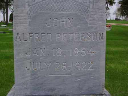 PETERSON, JOHN ALFRED - Minnehaha County, South Dakota | JOHN ALFRED PETERSON - South Dakota Gravestone Photos
