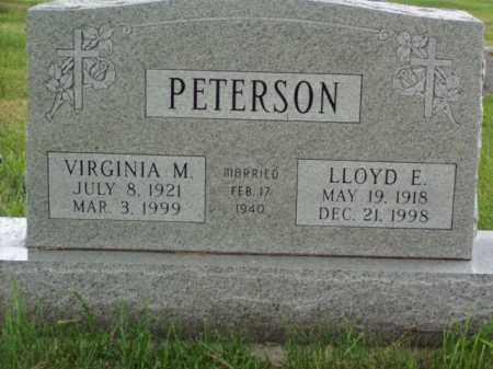 PETERSON, VIRGINIA M. - Minnehaha County, South Dakota | VIRGINIA M. PETERSON - South Dakota Gravestone Photos
