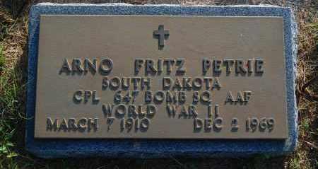PETRIE, ARNO FRITZ - Minnehaha County, South Dakota | ARNO FRITZ PETRIE - South Dakota Gravestone Photos