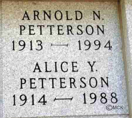 PETTERSON, ALICE Y. - Minnehaha County, South Dakota | ALICE Y. PETTERSON - South Dakota Gravestone Photos