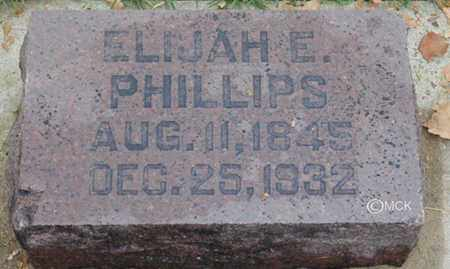 PHILLIPS, ELIJAH E. - Minnehaha County, South Dakota | ELIJAH E. PHILLIPS - South Dakota Gravestone Photos