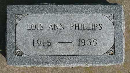 PHILLIPS, LOIS ANN - Minnehaha County, South Dakota | LOIS ANN PHILLIPS - South Dakota Gravestone Photos