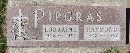 PIPGRAS, LORRAINE - Minnehaha County, South Dakota | LORRAINE PIPGRAS - South Dakota Gravestone Photos