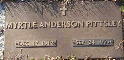 ANDERSON PITTSLEY, MYRTLE - Minnehaha County, South Dakota | MYRTLE ANDERSON PITTSLEY - South Dakota Gravestone Photos