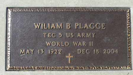 PLAGGE, WILIAM B. (WWII) - Minnehaha County, South Dakota | WILIAM B. (WWII) PLAGGE - South Dakota Gravestone Photos