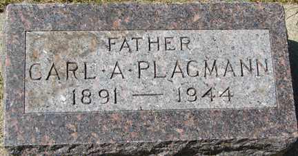 PLAGMANN, CARL A. - Minnehaha County, South Dakota   CARL A. PLAGMANN - South Dakota Gravestone Photos