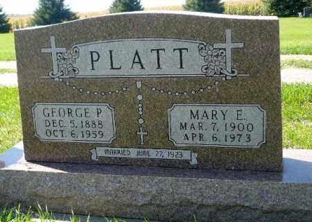 PLATT, MARY ELLEN - Minnehaha County, South Dakota | MARY ELLEN PLATT - South Dakota Gravestone Photos