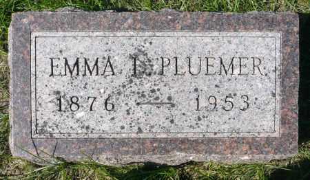PLUEMER, EMMA L. - Minnehaha County, South Dakota | EMMA L. PLUEMER - South Dakota Gravestone Photos
