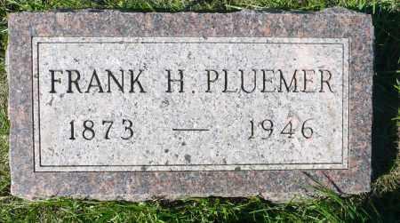 PLUEMER, FRANK H. - Minnehaha County, South Dakota | FRANK H. PLUEMER - South Dakota Gravestone Photos