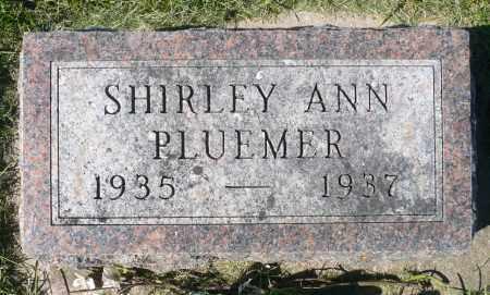 PLUEMER, SHIRLEY ANN - Minnehaha County, South Dakota   SHIRLEY ANN PLUEMER - South Dakota Gravestone Photos