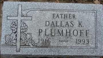 PLUMHOFF, DALLAS K. - Minnehaha County, South Dakota   DALLAS K. PLUMHOFF - South Dakota Gravestone Photos