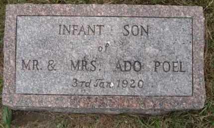 POEL, INFANT SON - Minnehaha County, South Dakota | INFANT SON POEL - South Dakota Gravestone Photos
