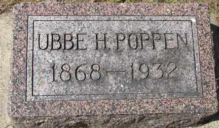POPPEN, UBEE H. - Minnehaha County, South Dakota | UBEE H. POPPEN - South Dakota Gravestone Photos