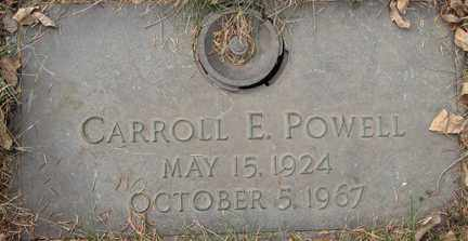 POWELL, CARROLL E. - Minnehaha County, South Dakota | CARROLL E. POWELL - South Dakota Gravestone Photos