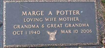 POTTER, MARGE A. - Minnehaha County, South Dakota   MARGE A. POTTER - South Dakota Gravestone Photos