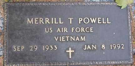 POWELL, MERRILL T. - Minnehaha County, South Dakota   MERRILL T. POWELL - South Dakota Gravestone Photos