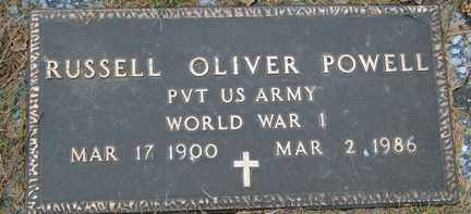 POWELL, RUSSELL OLIVER (WWI) - Minnehaha County, South Dakota | RUSSELL OLIVER (WWI) POWELL - South Dakota Gravestone Photos