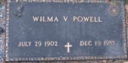 POWELL, WILMA V. - Minnehaha County, South Dakota | WILMA V. POWELL - South Dakota Gravestone Photos