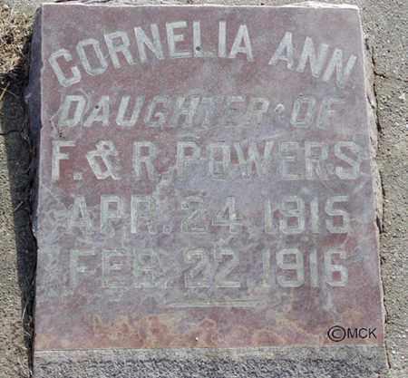 POWERS, CORNELIA ANN - Minnehaha County, South Dakota | CORNELIA ANN POWERS - South Dakota Gravestone Photos
